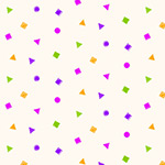 Confetti Shapes Rock Candy